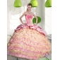 2015 Brand New Quinceanera Dresses with Ruffled Layers and Appliques