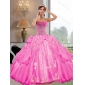 2015 Remarkable Strapless Ball Gown Quinceanera Dresses with Appliques