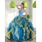 Beautiful Multi Color Quinceanera Dresses with Beading and Ruffles for 2015