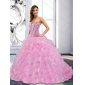 Classic 2015 Sweetheart Beading and Ruffles Rose Pink Quinceanera Dresses