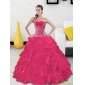 Classic Sweetheart Quinceanera Gown with Appliques and Ruffles