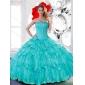 Couture Sweetheart 2015 Quinceanera Dresses with Beading and Ruffled Layers