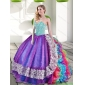 Couture Sweetheart Multi Color Quinceanera Dresses with Beading and Ruffles