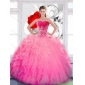 Flirting Strapless 2015 Quinceanera Dresses with Ruffles and Appliques