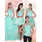 2015 Apple Green Quinceanera Dresses with Beading and Appliques