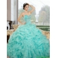 2015 Classic Sweetheart Quinceanera Dresses with Ruffles and Pick Ups