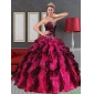2015 Unique Sweetheart  Multi Color Quinceanera Dresses with Beading and Ruffles