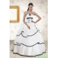 Couture White and Black 2015 Quinceanera Dresses with Beading