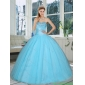 Cute Baby Blue Sweetheart Beaded Quinceanera Dresses for 2015