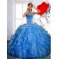 Designer Ball Gown Quinceanera Dress with Ruffles and Appliques