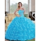 Designer Ball Gown Sweetheart Quinceanera Dress with Beading