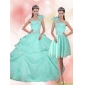 2015 Designer Apple Green Quinceanera Dress with Appliques