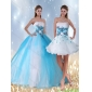 Designer Multi Color Quinceanera Dress with Appliques and Beading