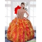 2015 New Style Multi Color Sweet 16 Dress with Beading and Ruffles