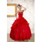 2015 New Style Beading Sweetheart Red Quinceanera Dresses