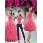 New Style Paillette Quince Dresses with Strapless for 2015