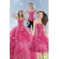 New Style Pink Quinceanera Dresses with Beading and Ruffles for 2015
