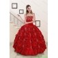 New Style Sweetheart Appiques and Beaded 2015 Quinceanera Dresses in Red
