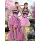 Plus Size Zebra Printed Quinceanera Dress with Pick Ups and Appliques