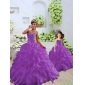 Trendy Purple Princesita with Quinceanera Dress with Beading and Ruffles for 2015 Spring
