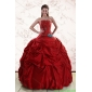 2015 Beaded Strapless Plus Size Quinceanera Dresses with Pick Ups