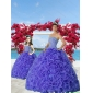 2015 Most Popular Beading and Ruffles Purple Princesita With Quinceanera Dress