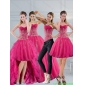 2015 Plus Size Hot Pink Sweetheart Quinceanera Dress with Appliques and Beading