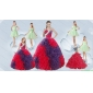 Elegant Ruffles Multi Color Quinceanera Dress and Apple Green Short Prom Dresses and Multi Color Halter Top Little Girl Dress