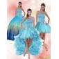 Plus Size Beaded Sweetheart Multi Color Quinceanera Dress with Ruffles