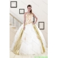 Plus Size Strapless White 2015 Quinceanera Dresses with Appliques