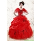 Sweetheart Red Plus Size Quinceanera Dresses With Applique for 2015
