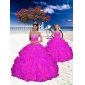 Top Seller Appliques and Beading Fuchsia Princesita with Quinceanera Dress for 2015