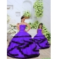 2015 New Style Beading and Ruching Organza Lavender Princesita With Quinceanera Dress