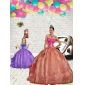 2015 Discount Beading and Embroidery Rust Red Princesita With Quinceanera Dress