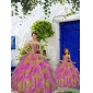 2015 Discount Multi-color Princesita With Quinceanera Dress with Beading and Ruffles