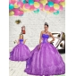 2015 Luxurious Beading and Embroidery Princesita With Quinceanera Dress in Purple