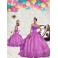 2015 Modern Beading and Embroidery Princesita With Quinceanera Dress in Fuchsia