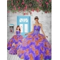 2015 Remarkable Appliques and Ruffles Multi-color Princesita With Quinceanera Dress