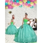 Exquisite Beading and Embroidery Princesita With Quinceanera Dress in Apple Green for 2015