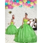 Fashionable Green Princesita With Quinceanera Dress with Beading and Embroidery for 2015