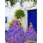 Fashionable Multi-color Princesita With Quinceanera Dress with Beading and Ruffles