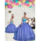 Most Popular Blue Princesita With Quinceanera Dresses with Beading and Embroidery for 2015