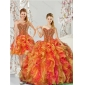 New Arrival Beading and Ruffles 2015 Quinceanera Dresses in Multi Color
