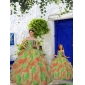 New Style Multi-color Princesita With Quinceanera Dress with Beading and Ruffles
