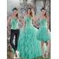 Plus Size Aqua Blue Quinceanera Dresses with Beading and Ruffles