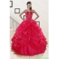 Plus Size Red Sweetheart Quinceanera Dresses with Appliques