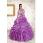 Plus Size Strapless Lilac Quinceanera Dresses with Appliques