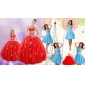 Sweetheart Ball Gown Red Quinceanera Gown and V Neck Beading Short Prom Dresses and  Red Halter Top Little Girl Dress