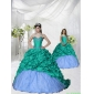 2015 Fashionable Appliques Brush Train Princesita With Quinceanera Dress in Turquoise