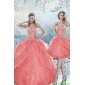 Plus Size Beading Quinceanera Dresses in Watermelon